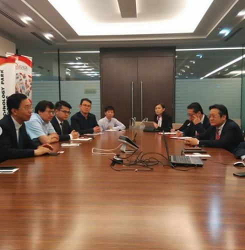 Visits from TusHoldings, Director of IASP China office and YB Tan Sri Dato Dr. Ir. Gan Thian Leong, Brunsfield Executive Chairman